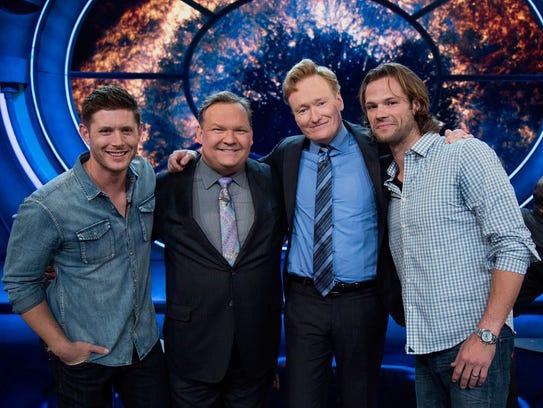 'Supernatural' stars Jensen Ackles (far left) and Jared