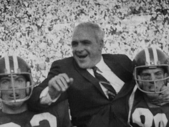 John Pont IU football coach - Nov. 27, 1967.