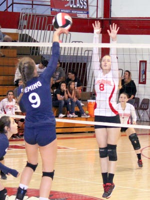 Cobre's Hannah Burnette (8) will come back to anchor the Lady Indians at the net this season.