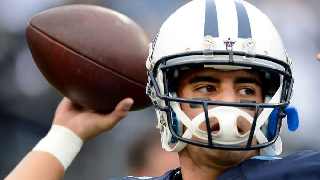Titans quarterback Marcus Mariota will miss at least one of the final two games of the season.