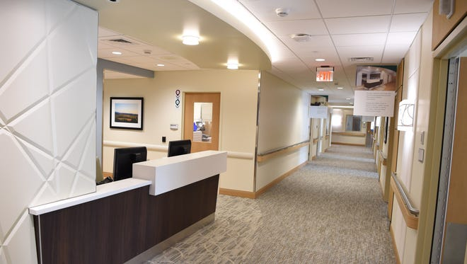 A nurse's station at the medical surgical unit at the new Martin and Toni Sosnoff Pavilion at Northern Dutchess Hospital in Rhinebeck on Wednesday.