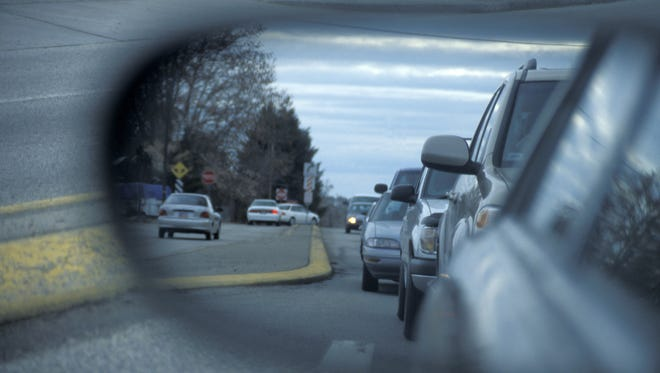 Cars in Side Mirror