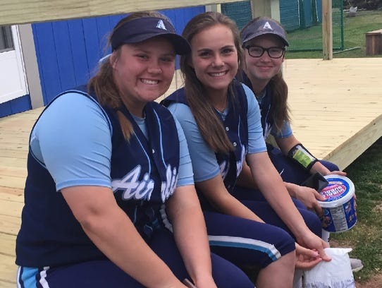 The Airline softball team was all smiles and ready
