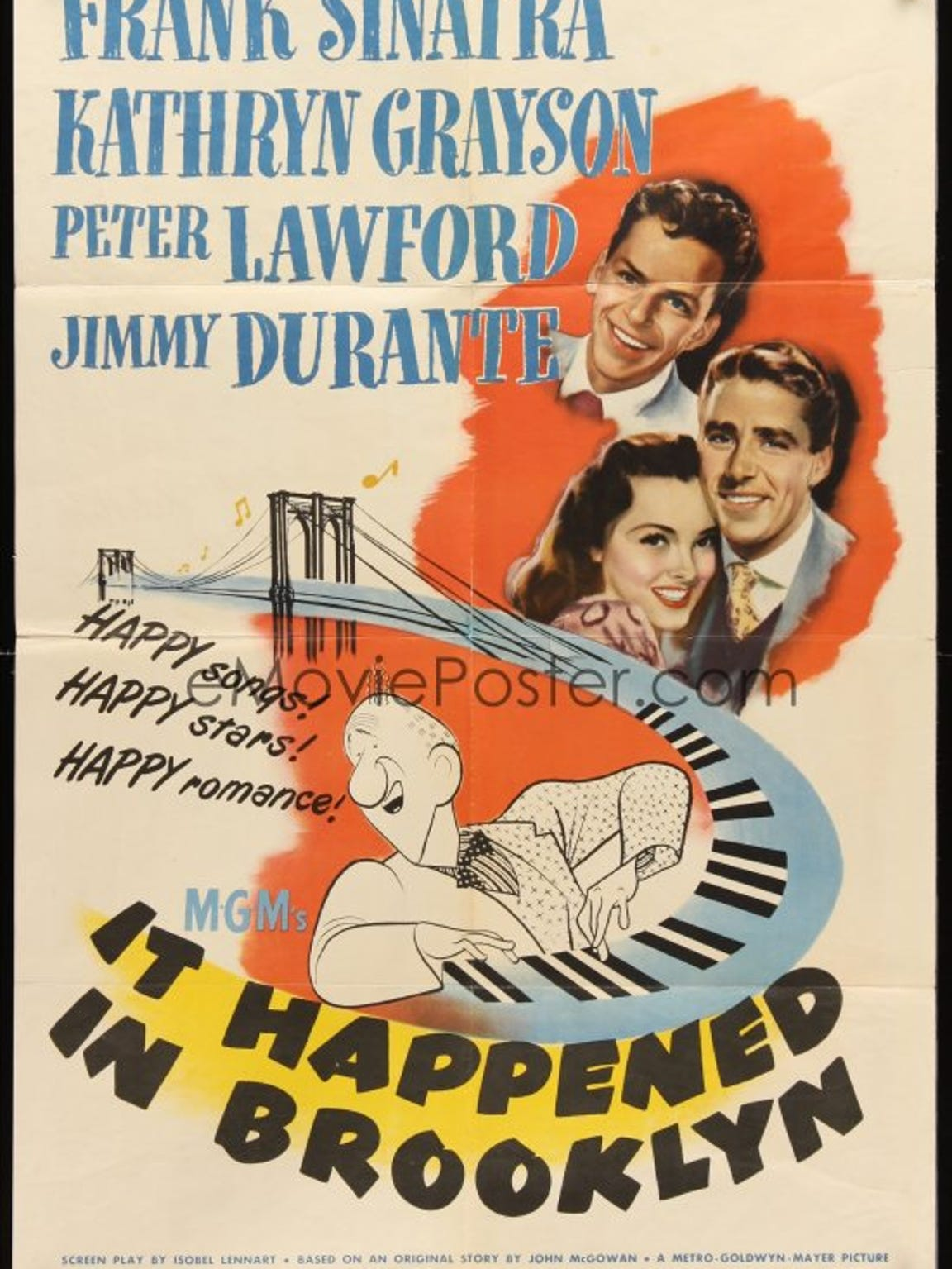 It Happened in Brooklyn movie poster from 1947.