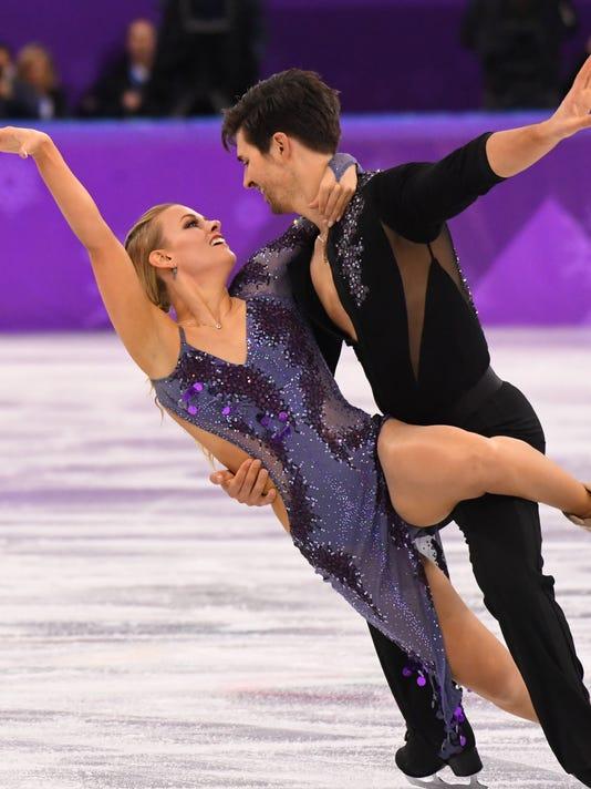 USP OLYMPICS: FIGURE SKATING-ICE DANCE SHORT DANCE S OLY KOR