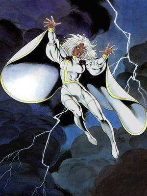 The weather-controlling mutant Storm of the X-Men is among the Marvel Comics characters brought to life by MidSouthCon guest artist Bob McLeod. (Courtesy of Bob McLeod)