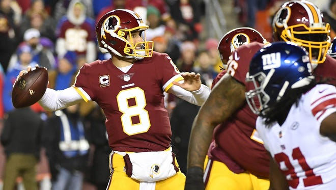 Redskins quarterback Kirk Cousins ranks second in the NFL through 12 weeks with 3,038 passing yards.