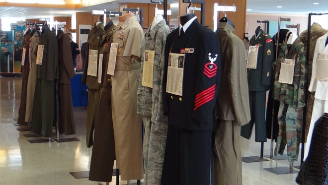 Veterans of Foreign Wars Post 661 has an annual display of military uniforms at the Oregon State Capitol.