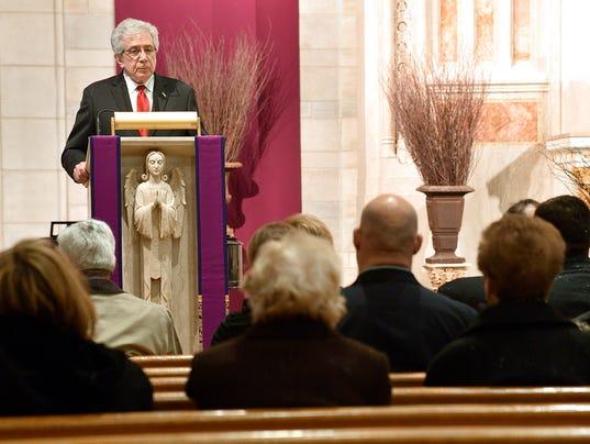 Democratic New Jersey Senate President and Nutley Mayor Carmen A. Orechio's Funeral Mass