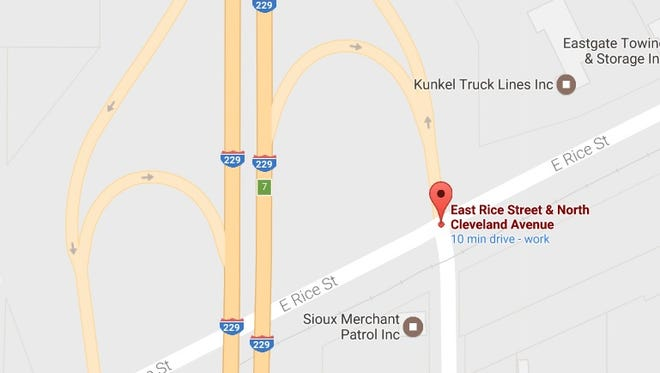 The intersection of Rice Street and Cleveland Avenue in Sioux Falls. Upgrades at the intersection are still years away, city engineers say.