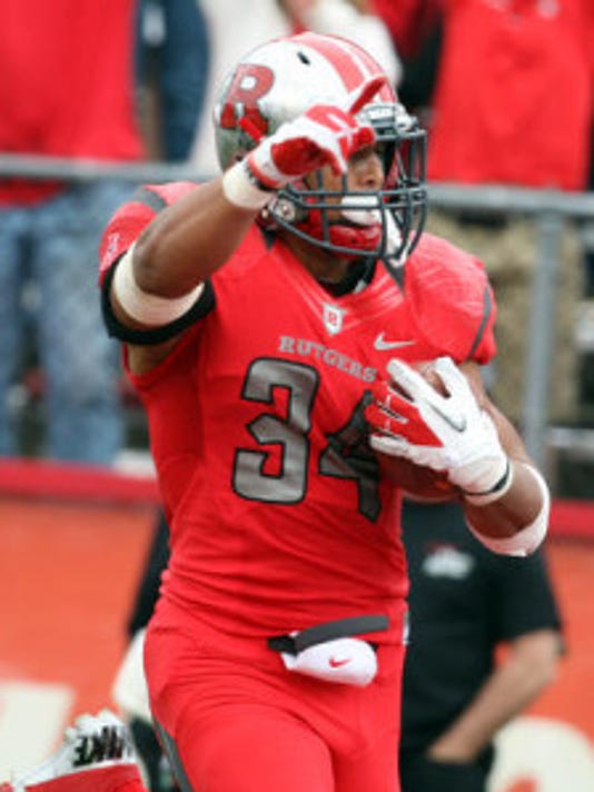 Underneath his helmet Thursday, Rutgers halfback Paul James will be sporting Scarlet-colored hair. (MyCentralJersey.com file photo)
