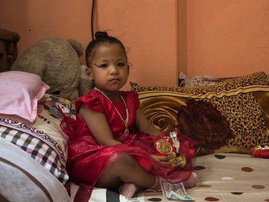 Kumari Nepals Trishna Shakya 3 Becomes New Goddess