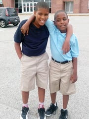 Antonio (left) and Caleb Wilson attend Paramount School