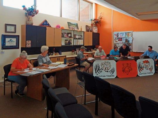 Capitan School Board during recent meeting.