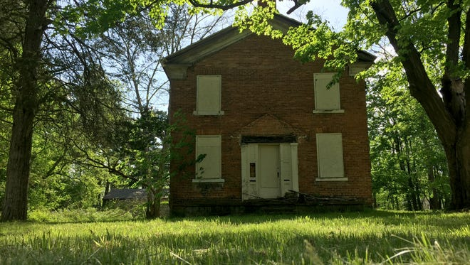 The front of 373 Riverside Dr., believed to be the oldest standing structure in Battle Creek.