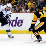 Logan Couture steps up for big playoff moments for Sharks