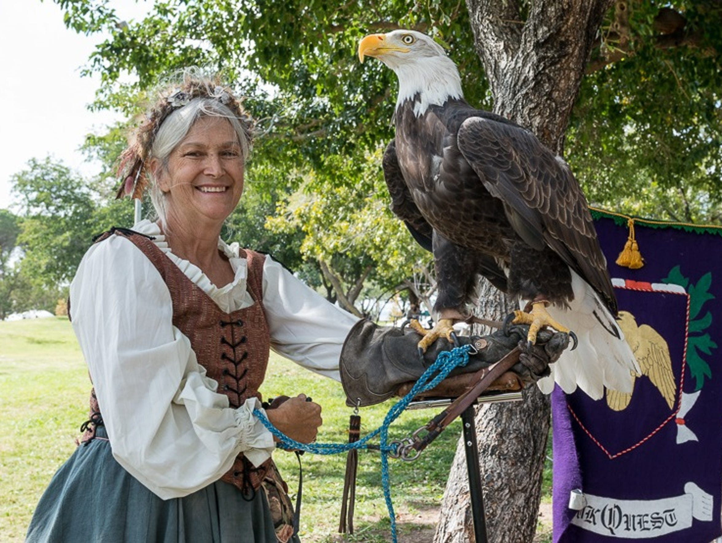 HawkQuest, a Colorado-based nonprofit organization, will visit the Renaissance ArtsFaire for the 12th time. The popular attraction showcases birds of prey.