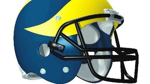Michigan football helmet.