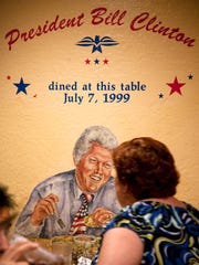 President Bill Clinton made a visit to Poncho's Mexican