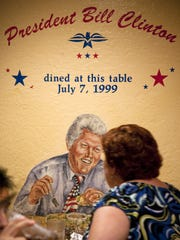President Bill Clinton made a visit to Poncho's Mexican Food and Cantina in South Phoenix on July 7, 1999.