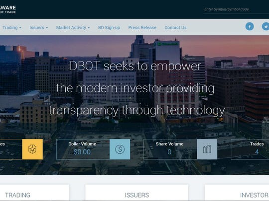 The upstart Delaware Board of Trade, which seeks to start a stock exchange in Wilmington, has a website.
