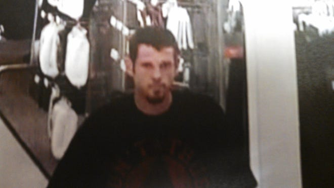 """Marion County Sheriff's Office are seeking a white male, in his thirties, approximately 6'3"""" tall, 190 lbs, with brown hair and brown eyes, a black shirt with red lettering on the front and black back pack."""