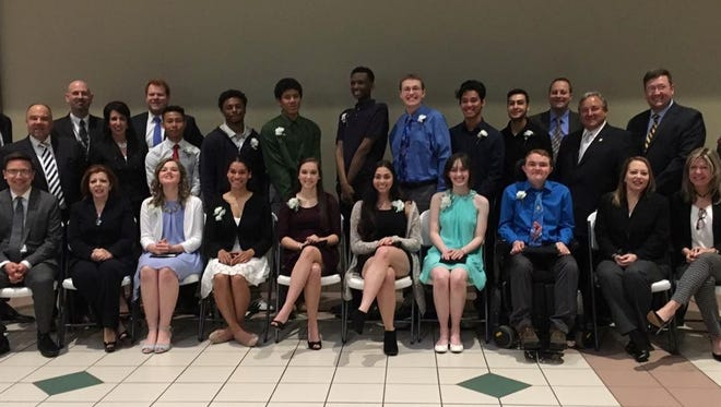 Inductees into the 2017 Youth Hall of Fame with local dignitaries and leaders on May 4, 2017 at the Mall at Greece Ridge.