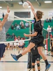 Senior middle blocker Tanner Nodolf is part of a deep and talented Foothill Tech team.