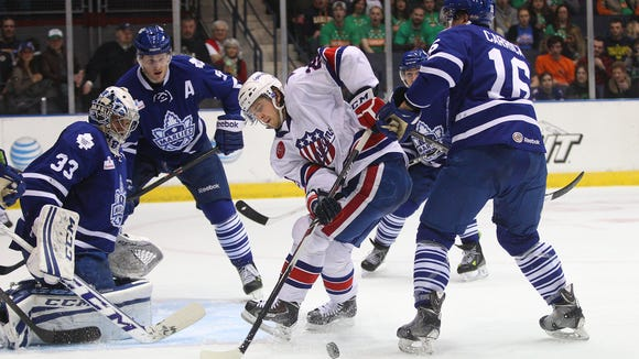 Expected to just be an emergency fill-in, Alex Hutchings has become an every-day player for the Amerks.