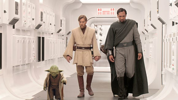 Yoda (voiced by Frank Oz), Obi-Wan Kenobi (Ewan McGregor)