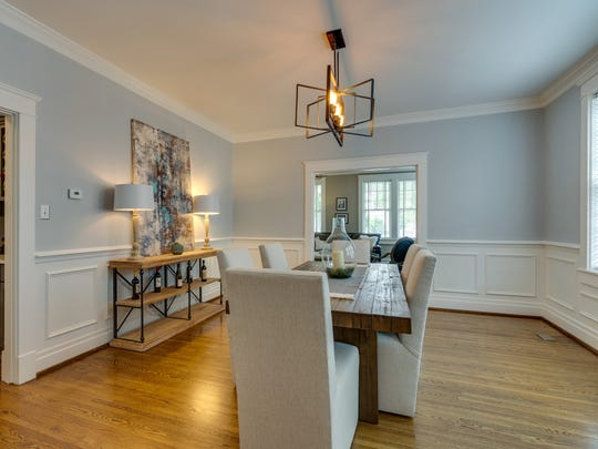 The plaster walls on the home's main floor have all