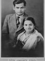 The author's parents: Prabhaker and Kusum Panwalker