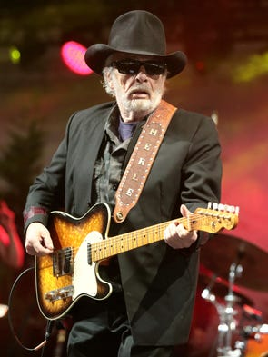 Singer-songwriter Merle Haggard performs on Day 3 of