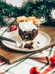 Peppermint Brownie Pie with Baileys Whipped Cream offers