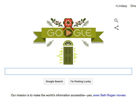 Seth Rogen gets a link on today's Google homepage.