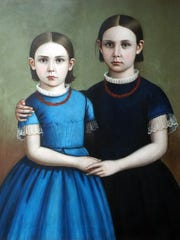 "In the painting ""Portrait of Two Girls"", one can sense"