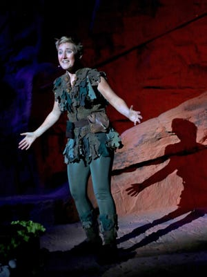 "Em Grosland plays the title role in Tuacahn's 2016 production of the musical ""Peter Pan."""