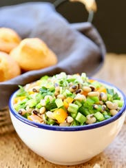 Healthy Black-Eyed Pea Salad is a lucky way to start