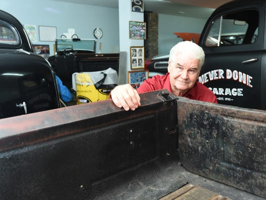 Jack Fortner has a garage full of memories at his Yellville home. Some of the memories include keepsakes from the many NASCAR races he has worked over the past 20 years.