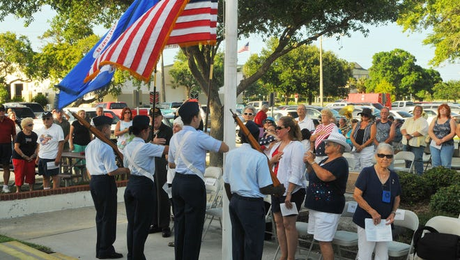 Flag Day ceremonies held at the Liberty Bell Memorial Museum on June 14.