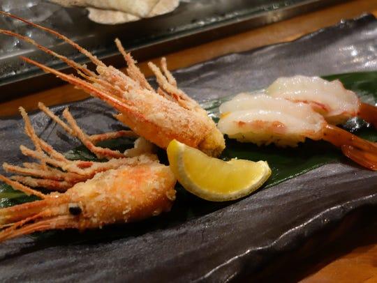Amaebi Nigiri at Sushi Roku.