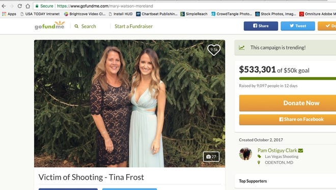 Twenty-seven-year-old Tina Frost made her steps without the assistance of nurses Friday. According to a post on her GoFundMe, she took three steps to the chair and three steps back to the bed.