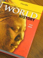 The Pearson World History textbook used in 2013. Inaccuracies