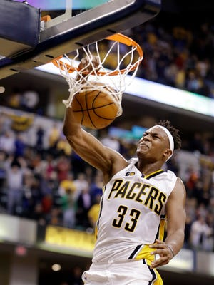 Indiana Pacers' Myles Turner was impressive in his team's opening game.
