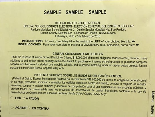 Voters will be asked next Tuesday to authorize $18