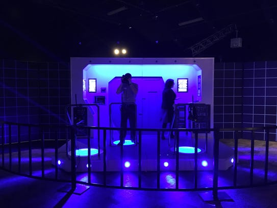 Visitors can try out virtual gaming headsets at 'Popnology.'