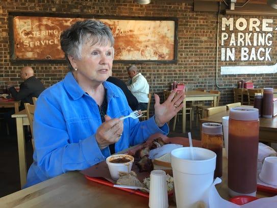 Elaine McDonald, 73, talks presidential politics during
