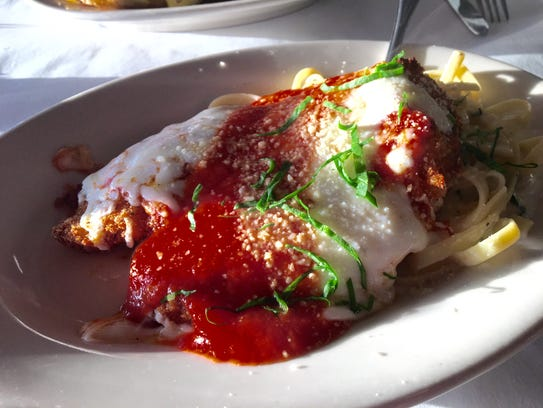 Chicken Parmigiano from Gusto Cucina Italiana in Cape