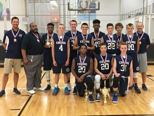The 8th grade Chambersburg AAU basketball team won