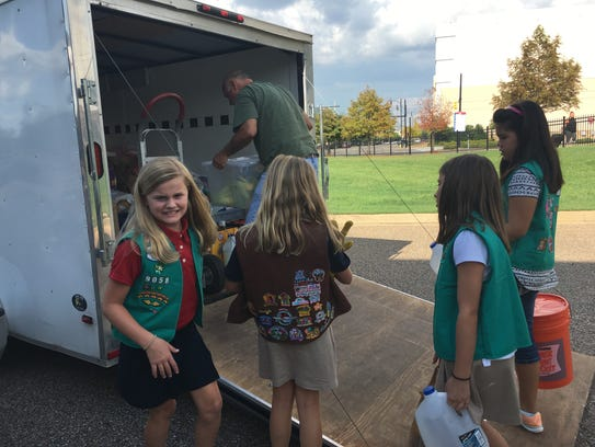 Girl Scout troops from throughout the River Region